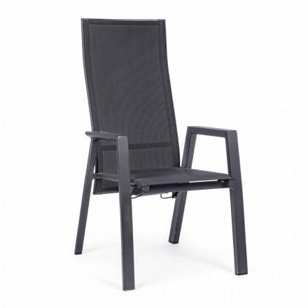 Liegestuhl aus Textilene und Aluminium, 4 Stück - Lucia