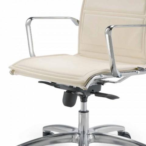 Bürostuhl mit Monocoque aus Kunstleder hergestellt in Italy Agata