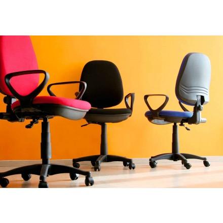 Ergonomischer Bürodrehstuhl mit Armlehnen aus Tissue - Concetta