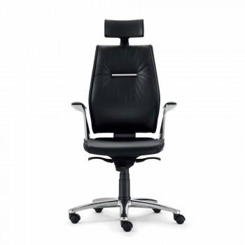 ergonomischen Bürostuhl in Rindleder Typ Ines