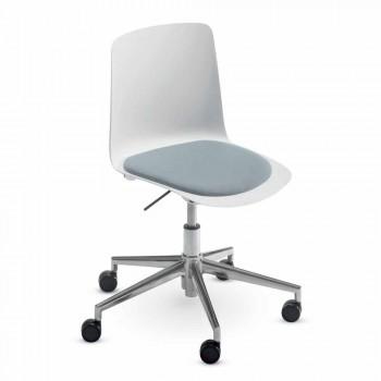 Bürostuhl aus Aluminium und Polypropylen Hergestellt in Italien, 2 Stück - Charita