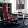 Bürostuhl aus Buchenholz und Leder Debora