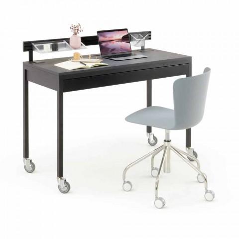 Bürostuhl aus Polypropylen mit verchromter Basis Made in Italy - Plutonio