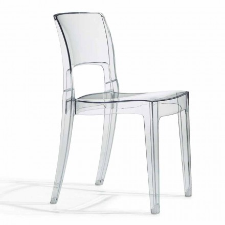 Outdoor Design Stuhl aus Polycarbonat Made in Italy 4 Stück - Scab Design Isy