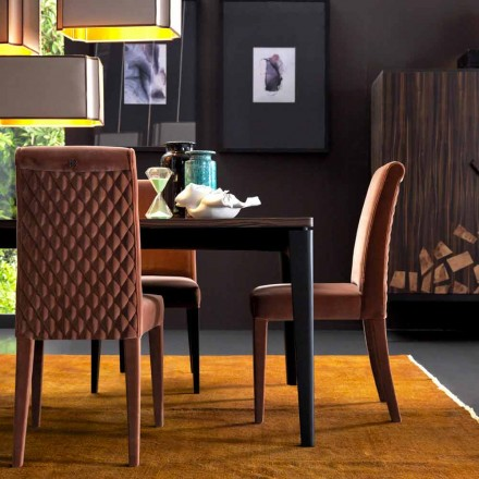 Polsterstuhl living aus Massivholz Grilli Zarafa in Italien hergestellt