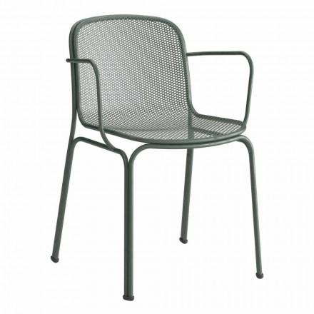 Stapelbarer Outdoor Metallstuhl Made in Italy, 4 Stück - Verna