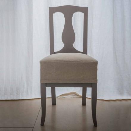 Stuhl in Buche lackiertem Buchenholz in Italien, Kimberly, 2 Stücke