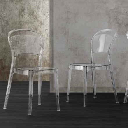 Stuhl aus transparentem Polycarbonat, modernes Design - Yanis