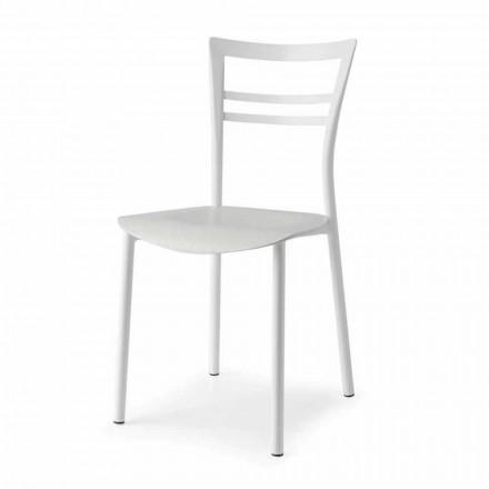 Living Design Stuhl aus Metall und mehrschichtigem Holz Made in Ita, 2 Stücke - Go
