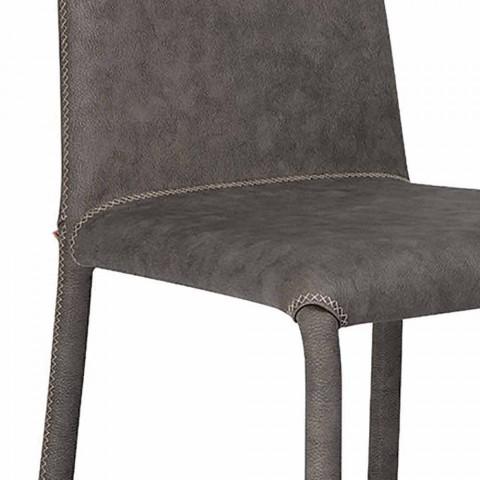 Moderner Wohnstuhl aus Kunstleder made in Italy, Gazzola