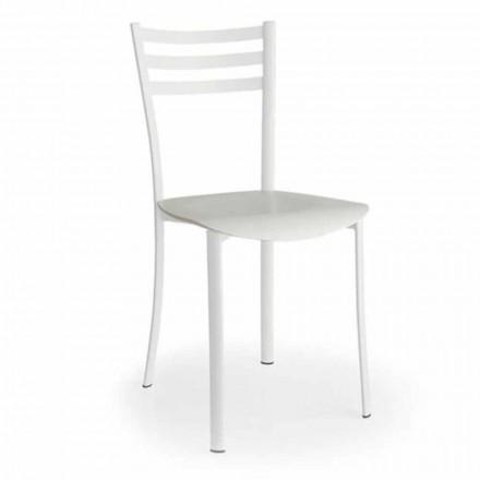 Moderner Stuhl mit austauschbarem Sitz aus Eichenholz Made in Italy, 2 Stücke - Ace