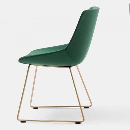 moderner Stuhl aus Stoff mit Schlittenbasis made in italy – Bonaldo Artika