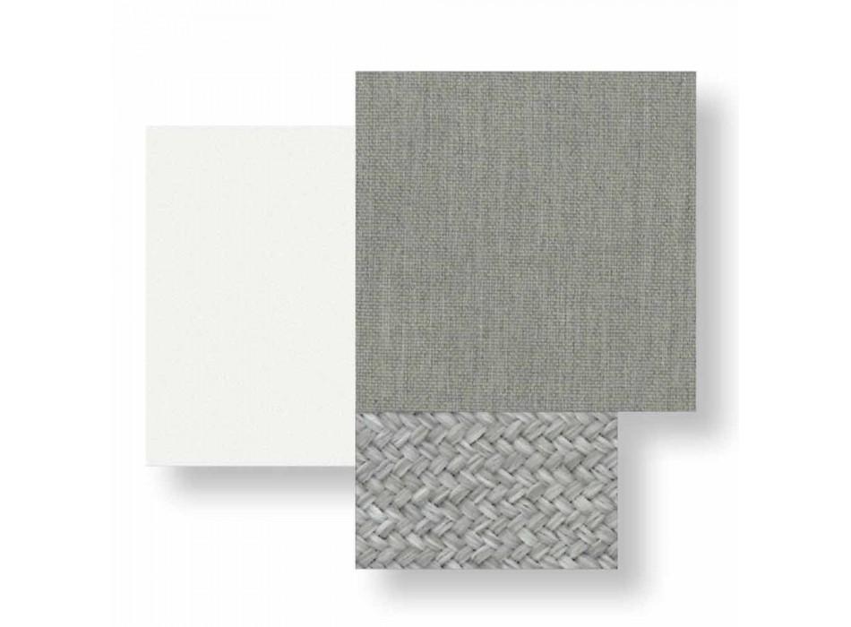 Außenstuhl mit Armlehnen aus Aluminium und Stoff - Sofy von Talenti