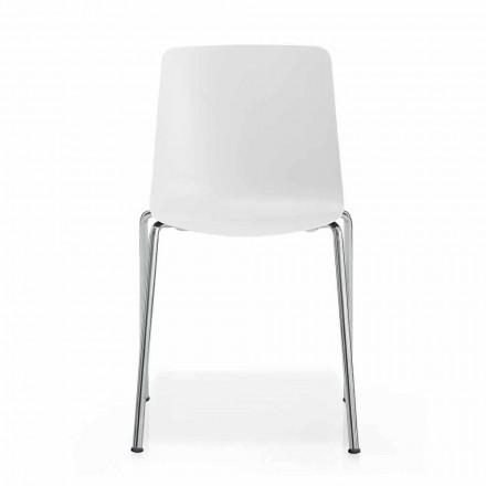 Made in Italy Esszimmerstuhl aus Metall und Polypropylen, 4-teilig - Carlita