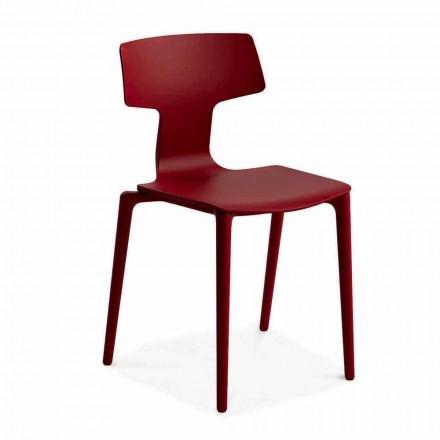 Stapelbare Stühle aus Polypropylen im Freien Hergestellt in Italien, 4 Stück - Claribel