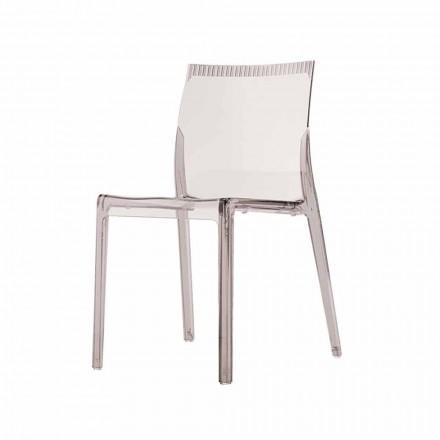 Moderne Esszimmerstühle aus farbigem Polycarbonat 4 Designstücke - Radon