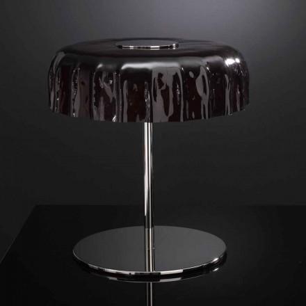 Selene Big Cap Tischlampe aus Glas Ø40 H 40cm made in Italy