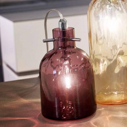 Selene Bossa Nova Tischlampe Ø11 H16cm,  geblasenes Glas, Amethyst
