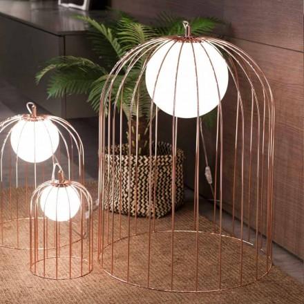 Selene Kluvì Tischlampe aus geblasenem Glas, Design Ø54 H 70cm