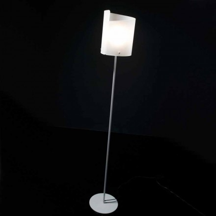 Selene Papiro Stehlampe aus Kristall, Design Ø26 H185cm