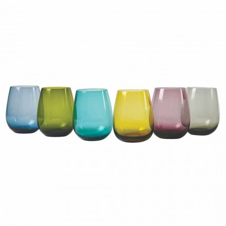 Design farbige Glaswassergläser, 12 Stück - Aperi