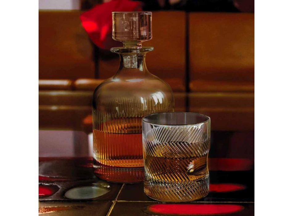 6-teiliges Luxus-Design Ökologisches Kristall-Whisky-Set - Taktil