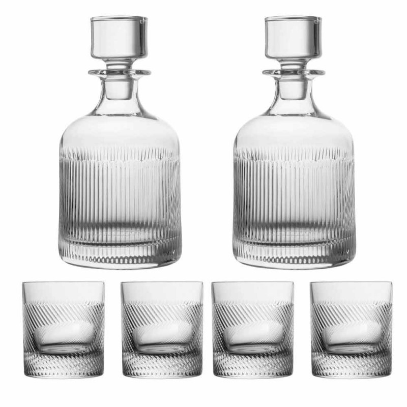6-teiliges Luxus-Design Ökologisches Kristall-Whisky-Set - Taktil