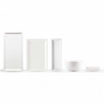 Weißes Porzellan Moderne Teller Set 25 Stück - Basal