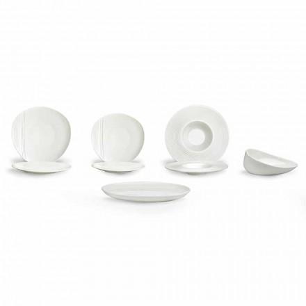 Modernes Porzellan Teller Set 26 Stück - Nalah