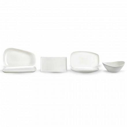 Weißes Porzellan Abendessen oder Servieren von Gerichten - Nalah