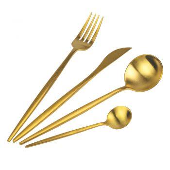 24-teiliges Besteckset in Mattschwarz, Gold oder Silber - Patinero