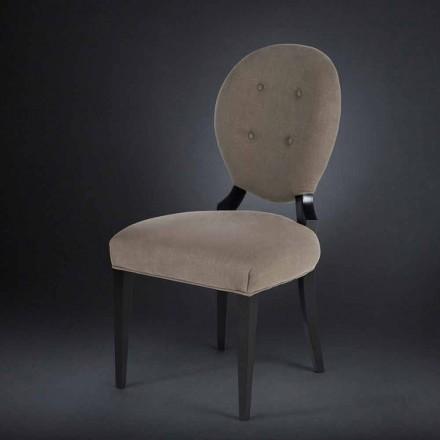 Gepolsterter Stuhl im 2er Set boutonné Sophia