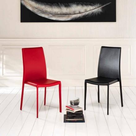 Kunstleder Stuhl im 4er Set in modernem Design Gioia