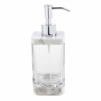 Modernes Badezimmerzubehör aus Calacatta-Marmor und Carona-Glas