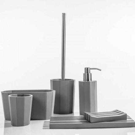 Moderner Badezimmerzubehörsatz hergestellt mit Harz Rivello
