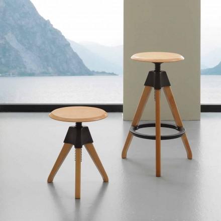Hocker aus Buchenholz und Polypropylen in modernem Design Sit