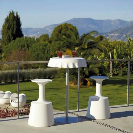 Moderner hoher Barhocker für den Außenbereich, Slide Drink, hergestellt in Italien