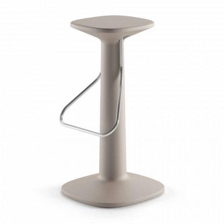 High Design Hocker aus Polyethylen und Edelstahl Made in Italy - Pito