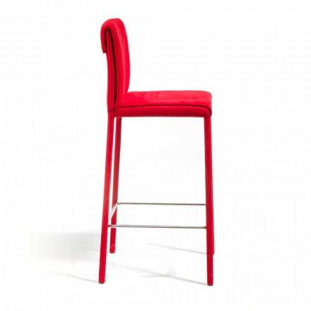 Barhocker Amos in modernem Design, komplett in Italien handgefertigt