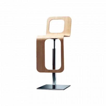 Modernes Design Küchenhocker aus Eichenholz und Metall - Signorotto