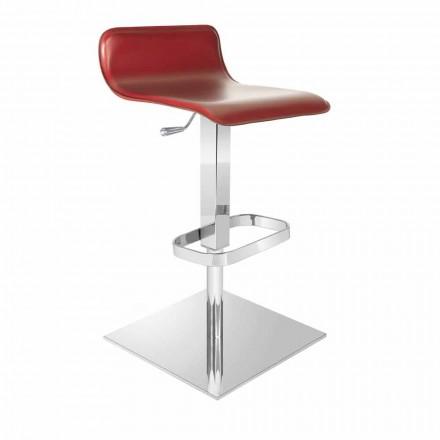 Design Hocker mit verstellbarer Sitz- und Chrombasis, Inigo