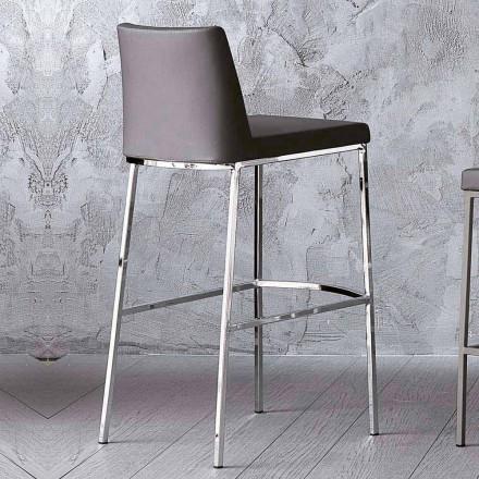 Ecoleather Design Hocker für Küche oder Esszimmer H 80 cm - Celine