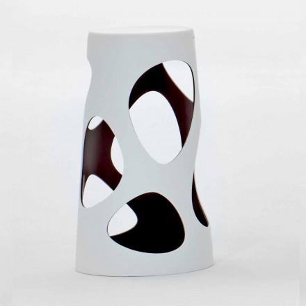 Stapelbarer Hocker für draußen oder drinnen Weiß und Schwarz 2 Stück - Liberty by Myyour