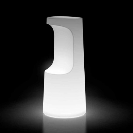 Leuchtender Außenhocker aus Polyethylen mit LED-Licht Made in Italy - Forlina