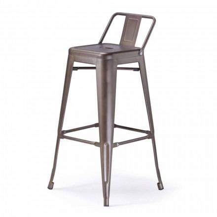 Hocker aus Metall, Sitzfläche H 65 cm im industriellen Stil - Giuditta