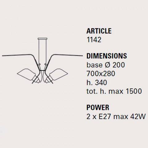 Hängeleuchte mit zwei Designerlampen aus Tractor - Toscot Metall