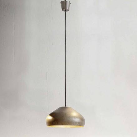 Design Hängeleuchte aus antikem Stahl Durchmesser 450 mm – Materia Aldo Bernardi