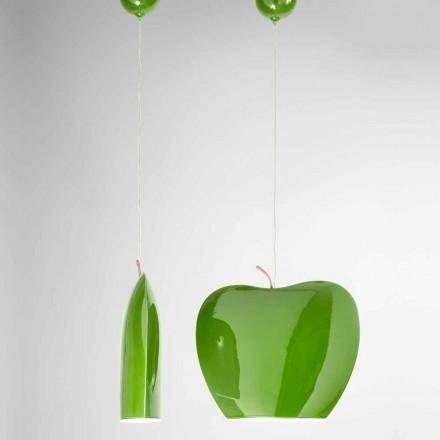 Design Hängeleuchte aus Keramik Apfelform – Fruits Aldo Bernardi