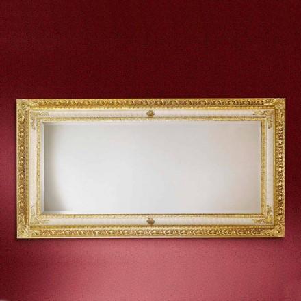 Rechteckiger Wandspiegel aus Holz, hergestellt in Italien, Raffaello