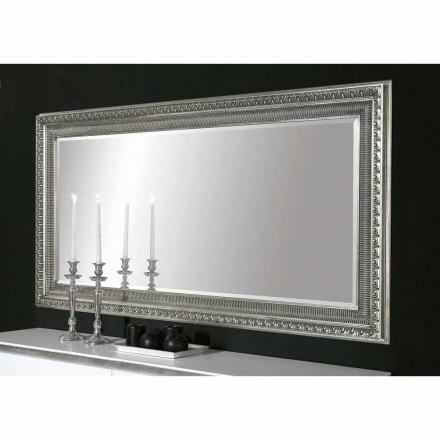 Handgearbeiteter Holz-Wandspiegel im modernen Design von Claudio, hergestellt in Italien